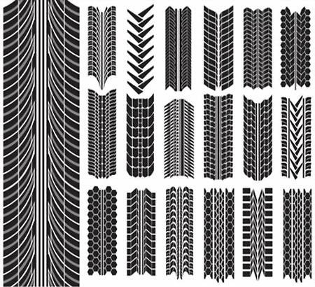 Рисунки протектора - симметричные и несимметричные