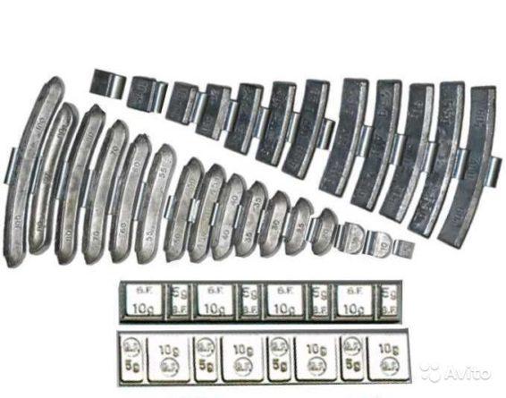 Навесные и самоклеющиеся балансировочные грузики колеса